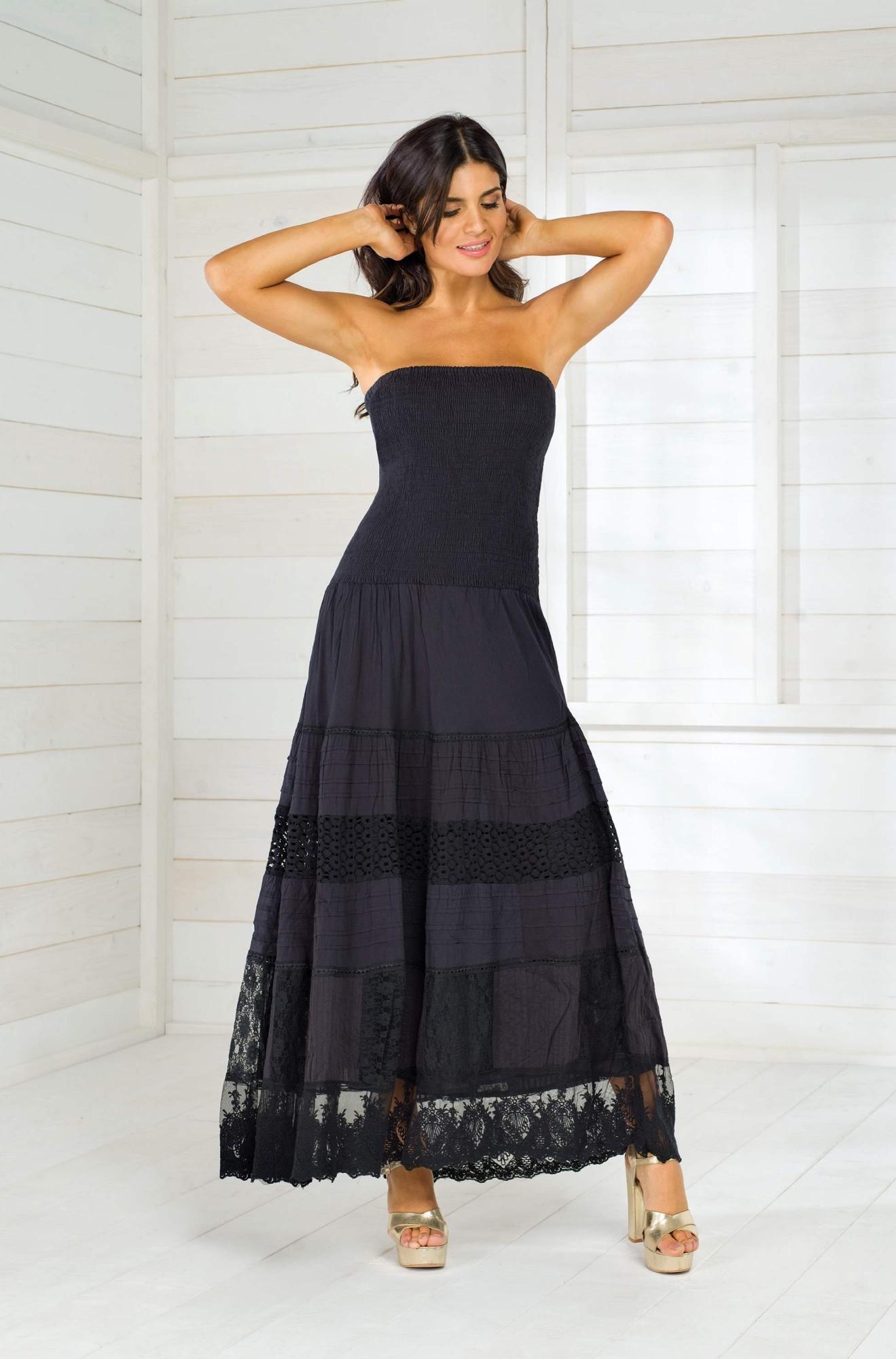 Довге пляжне плаття на гумці Iconique IC8-016 N - фото №1 2ec0aac20e459